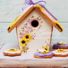 gingerbread house bird house