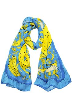 Banana Silk Scarf #banana #tukutukum #silkscarf