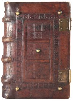 Blind-tooled calfskin binding on a French incunable.