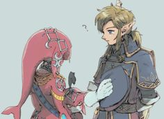 Baw peeps are making fan art now with smol Sidon <3 still surprised he didn't recognize Link but then 100 years is a long time...