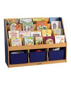 Great for kids' organization: Blue Three Compartment Book Display