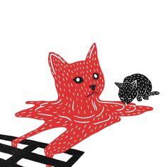 © Min Liu | Bloody Dairy | Ilustración | Cóctel Demente