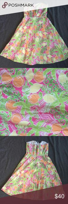 Lilly Pulitzer Summer Dress Super cute Lilly strapless dress! Size 0. Perfect for summer time! Excellent used condition. Lilly Pulitzer Dresses Strapless