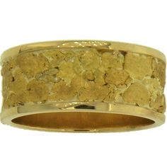 Alaskan Gold Nugget Wedding Band ~ Custom made by Gold Rush Fine Jewelry ~ Fairbanks Alaska. ~ http://www.goldrushfinejewelry.com/