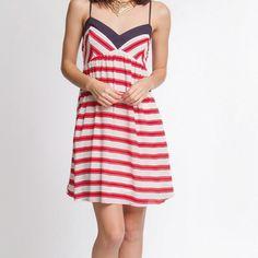 Sleeveless dress with stripes Sleeveless dress with stripes Dresses Mini