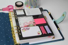Diy: sticky note planner dashboard for the planner addicts art / journaling Discbound Planner, Agenda Planner, Planner Tips, Life Planner, Happy Planner, Notebook Organization, School Organization, Organizing, Office Organisation