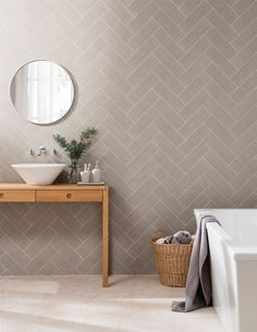 For those looking for an alternative look to the current linear and bevel formats, Touchline offers a clean structured design with a textured finish. Suitable for kitchen and bathroom, the simple structure makes the tile very versatile; use in a brick bond format with a contrasting grout for a sleek look, or use a matching grout for a more rustic feel.