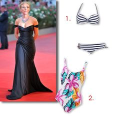 Choisir le bon maillot de bain en fonction de votre morphologie avec une silhouette en  X comme Scarlett Johansson #astucemode #morphologie #swimsuit #ScarlettJohansson #silhouettefemme #maillotdebain