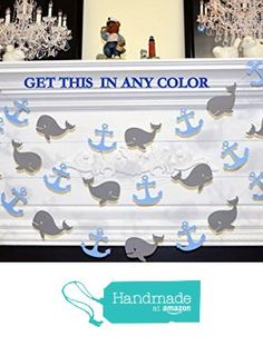 WHALE baby shower, whale garland, whale garland, baby boy birthday, nautical garland decoration, nautical birthday whale watchers, whale and anchor garland, anchor garland, nautical birthday decor from ANY OCCASION BANNERS AND GARLANDS https://www.amazon.com/dp/B019URNZ1Y/ref=hnd_sw_r_pi_dp_s4-MxbQMNGNZG #handmadeatamazon