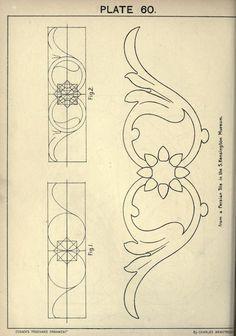 Кьюсак в произвольный орнамент. Текстовая книга с ч...