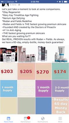 Price comparison. Love the skin you're in! R+F provides REAL results! What are you waiting for?!