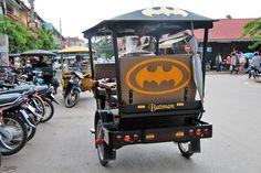 Batman goes Tuk Tuk in Siem Reap, Cambodia