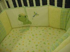 Frog Themed Crib Set for Baby Nursery Boy Nursery Bedding, Baby Boy Nurseries, Nursery Themes, Themed Nursery, Nursery Ideas, Room Ideas, Frog Nursery, Frog Theme, Baby Shower Themes