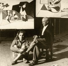 Picasso and Francois Gilot at Gagosian Madison Ave Gallery, New York