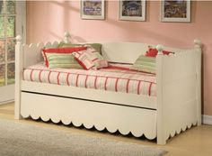 Overawe Daybed With Pop Up Trundle Bed And Many Cushions