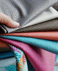 japanese fabric, tissus japonais (I have the Orange print! CC)