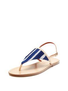 T-Strap Flat Sandal by Missoni Shoes at Gilt