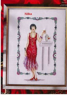Flapper in Red Dress
