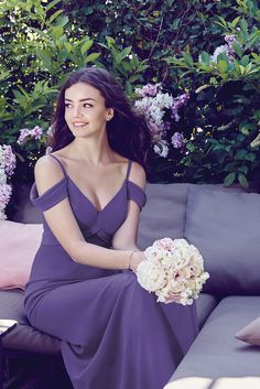 Get inspired by our Pantone 2018 Color of the Year Ultra Violet wedding inspiration! Pantone Ultra Violet bridesmaid dresses by Dessy Group