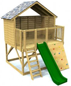 Woodworking Projects For Kids elevated open clubhouse plan for kids Backyard Playhouse, Build A Playhouse, Backyard Playground, Backyard For Kids, Backyard Fort, Outdoor Playhouse For Kids, Playhouse With Slide, Treehouse Kids, Playground Kids