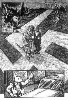 """""""Different Perspectives"""" Art Spiegelman: Maus. Graphic Novel Art, Comic Book Artists, Comic Books, A Level Art, Jewish Art, Fun Comics, Figure Painting, Artist Art, Manga"""