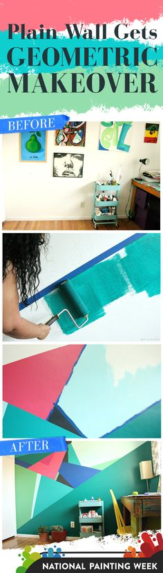 See this gorgeous geometric paint project from start to finish. @pearmama #SWPaintingWeek