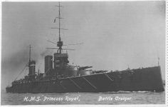 HMS Princess Royal was the third Battlecruiser of the 1st B.C. Squadron under the command of Vice-Admiral Beatty.