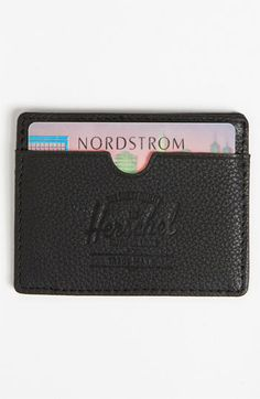 Herschel Supply Co. 'Charlie' Leather Card Case available at #Nordstrom