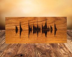 Small Wooden Voice Wave Art Personalized by MemorableLand on Etsy