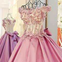 7ef369c99 Ball Gown Prom Dresses Brush Train Hand-Made Flower Lace Prom Dress Satin  Evening Dress