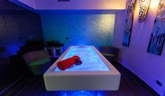 Very emotional spa with water massage bed Senso with cromotherapy inside