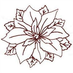 Embroidery Design: Poinsettia from Oklahoma Embroidery