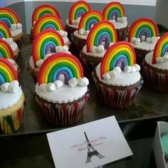 Cupcakes arco iris
