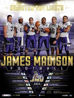 2013 JMU football schedule poster! Click to download full version.