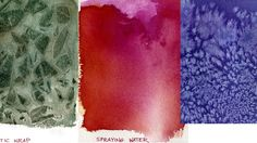 Watercolor Painting Lessons - Special Effects: Removing color, masking, salt, plastic wrap, incising, spattering, water spray.