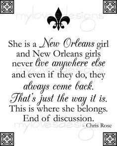 She is a New Orleans Girl