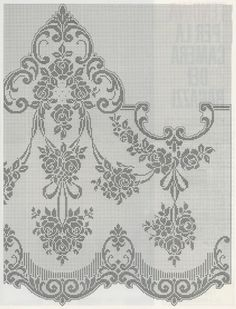Kira scheme crochet: Scheme crochet no. Border Embroidery Designs, Bead Embroidery Patterns, Couture Embroidery, Crochet Doily Patterns, Crochet Motif, Crochet Designs, Crochet Doilies, Beaded Embroidery, Crochet Stitches