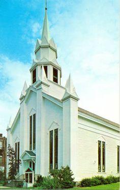 Seventh Day Baptist Church in Alfred, N.Y.  Built in 1854