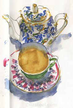 Liz Steel - Blog homepage Art Journaling