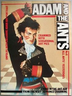 Adam And The Ants poster magazine from 1981