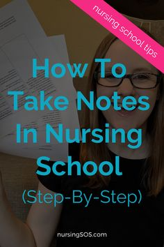 My best step-by-step tips for taking notes in nursing school. These simple studying tips will teach you how to survive without opening up your textbook! Visit our nursing school studying tips website and learn all of my note taking hacks! Nursing Study Tips, Nursing Classes, Online Nursing Schools, Nursing School Notes, Nursing Career, Nursing Degree, Nursing Student Organization, School Organization, Nursing School Motivation