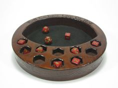 The Crescent Dice Tray W/Dice Display, Dice Tray, Dice Box, Dice Case, Dice Holder, Rolling, D20, Dungeons and Dragons, RPG, Pathfinder, DND