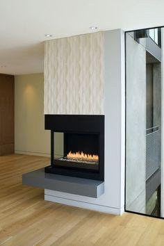 corner gas fireplace Drugasar DRU Paco vented corner gas