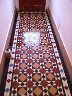 Victorian hallway tiled by @aostiling sealed with Universeal Ultimate Stone Sealer