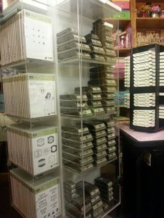 Stampin' Up Storage... ink pads, punches, clearstamps & wood stamps: