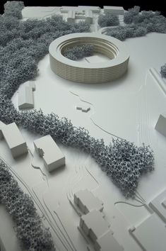 Image 2 of 9 from gallery of Dürig AG Designs Student Housing for University of Lausanne. Courtesy of Dürig AG Landscape Architecture Model, Architecture Model Making, Landscape Model, Architecture Panel, Cultural Architecture, Architecture Student, Landscape Design, Architecture Design, Wooden Architecture