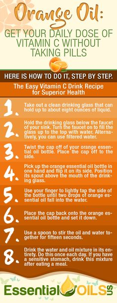 Get your daily dose of vitamin c without taking pills through orange essential oil. Get the full advantage of having orange essential oils with this easy vitamin C drink recipe for your superior health.