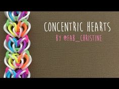 Rainbow Loom Bands Concentric Hearts Bracelet How-to Video Tutorial by Rainbow Loom Easy, Rainbow Loom Tutorials, Rainbow Loom Patterns, Rainbow Loom Creations, Rainbow Crafts, Rainbow Loom Bands, Rainbow Loom Charms, Rainbow Loom Bracelets, Rubber Band Crafts