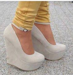 nude wedges a must!