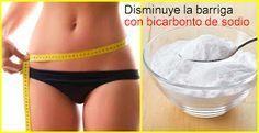 Cómo disminuir la barriga con bicarbonato de sodio | Belleza